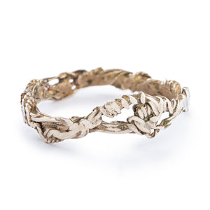Textured Twist Silver Ring