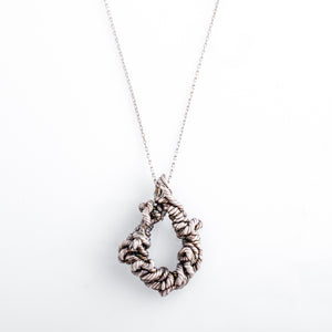 Twisted Diamond-Shaped Wire Pendant