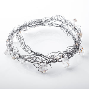 Thin Layered Spun Quartz Bangle