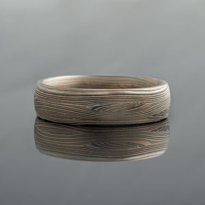 Custom made Mokume gane wedding band