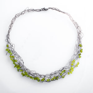 Spun Necklace with Peridot