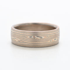 Mokume Wave Band in Embers