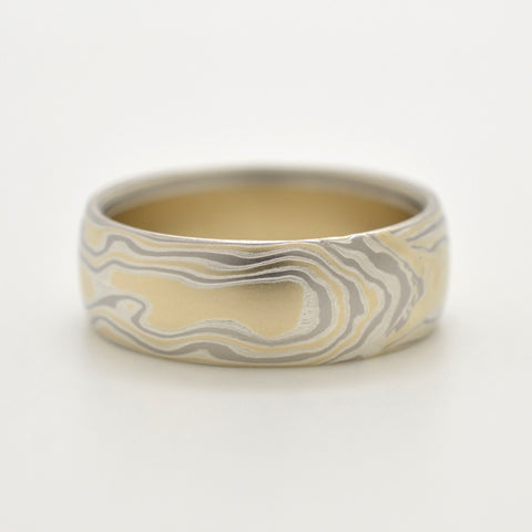 Mokume Woodgrain Band in Flare
