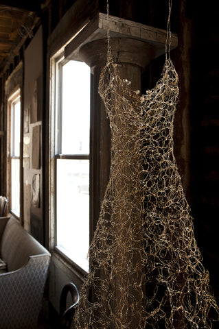 Auri Sero Sculptural Dress Installed in Home in Hudson NY