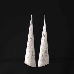Mokume Gane Earrings Triangular Drop