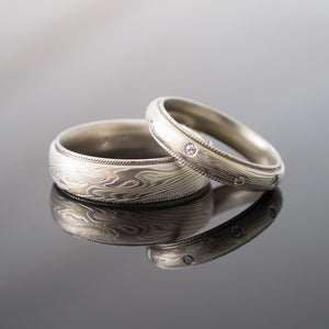 Mokume Gane Wedding Bands Men & Women