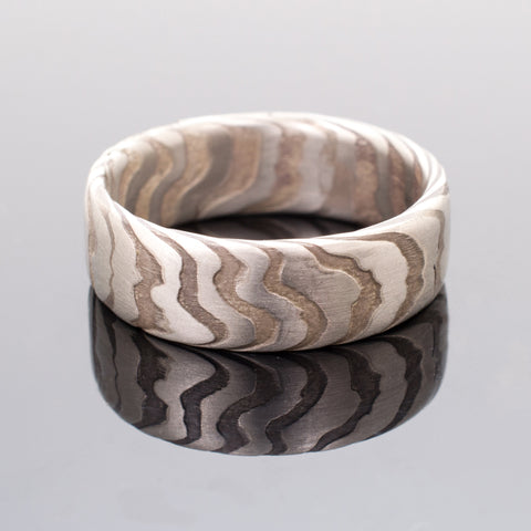 Mokume Incline Band in Oxidized Ash