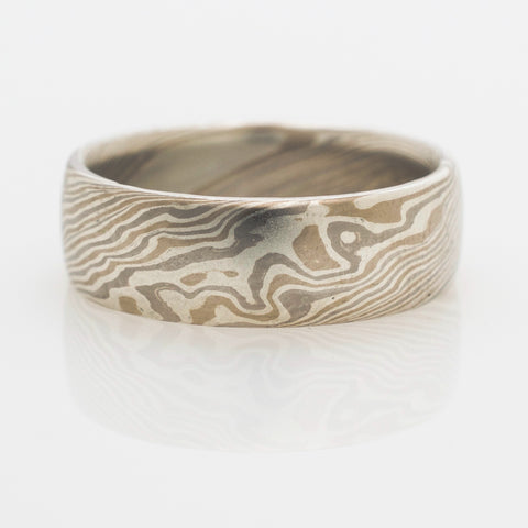 Mokume Twist Ring in Flare