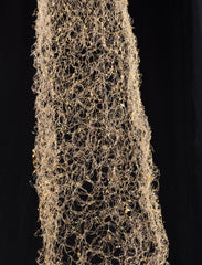 Hand woven brass wire with tree sap based resin.Wire Dress Sculpture