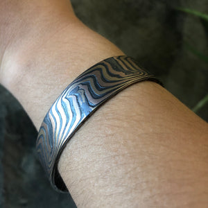 Mokume Wave Bracelet in Oxidized Fire SHIPS TODAY