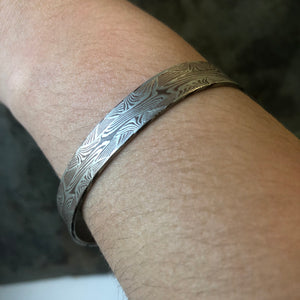 Mokume Pattern Welded Bracelet in Silver and Copper SHIPS TODAY