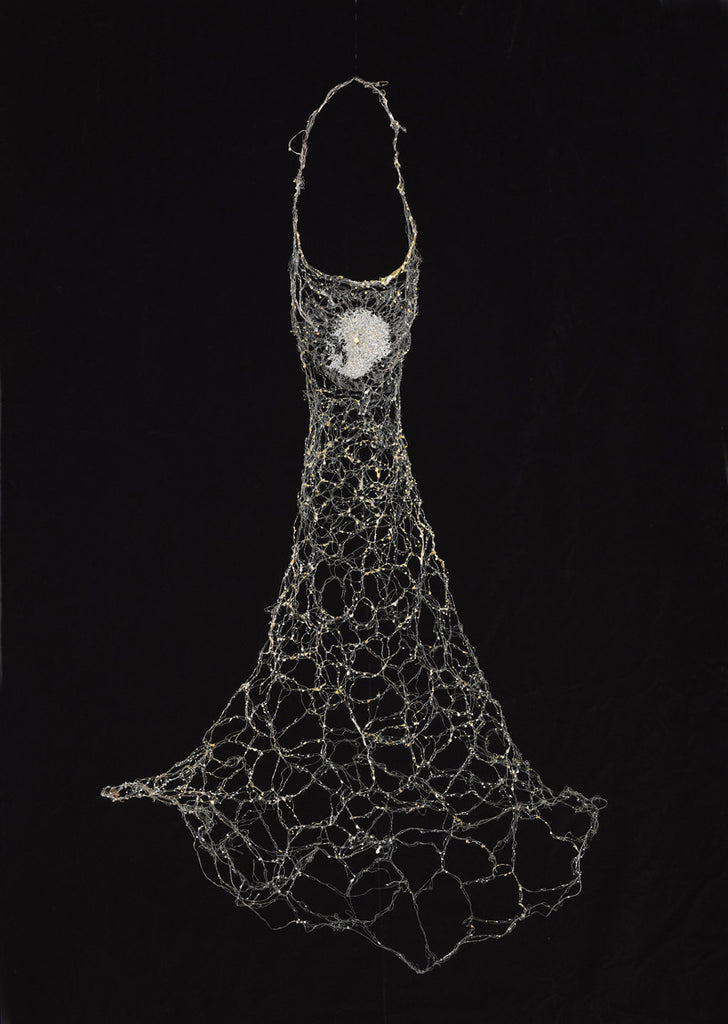 """Mavro Volans"" Wire dress sculpture  Sold"