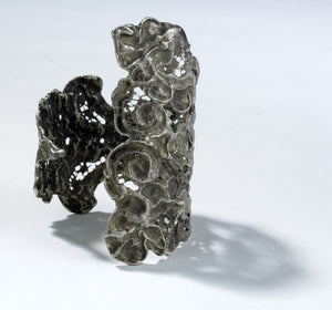 lace cuff, antique lace, silver cuff, filigree,