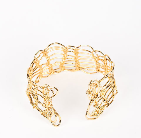 Knitted Gold Cuff