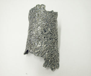 lace, cast, silver, oxidized silver, filigree,