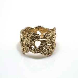 Inspired by vines and trees in New England, these twist rings are an organic and intricate sculpture for your finger.