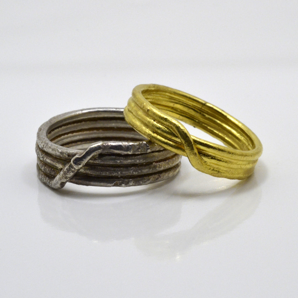 Archaic Crossover Wrap Rings