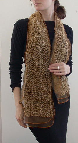 Woven Wire Sculptural Scarf