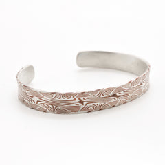 Mokume Pattern Welded Bracelet in Silver and Copper