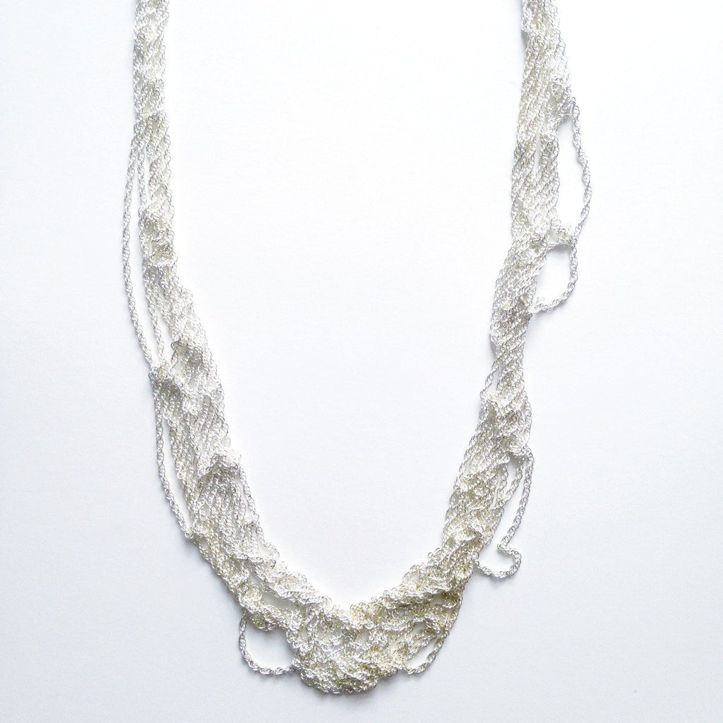 Thick Woven Silver Chain
