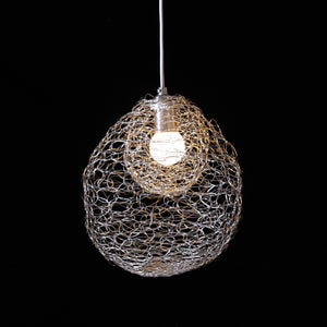 organic wire globe light
