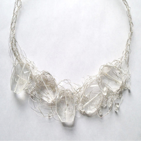 Silver and Quartz Necklace