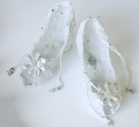 Crystal Flower Shoes