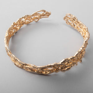Line Drawing Gold Cuff Bracelet