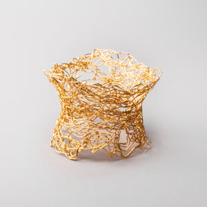 Knitted Flanged Gold Cuff
