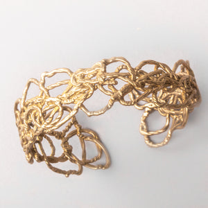 Knitted Gold Cuff Bracelet