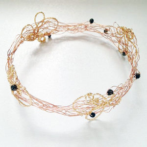 Thin Textured Knot Bangle