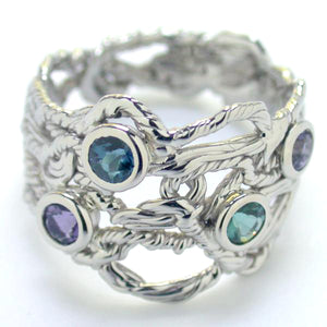 Gemstone Twist Ring