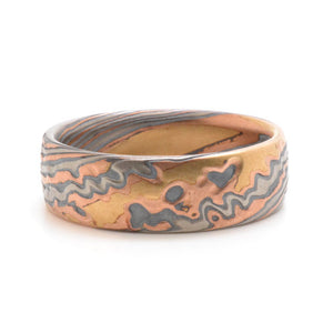 Mokume Twist Ring in Oxidized Firestorm