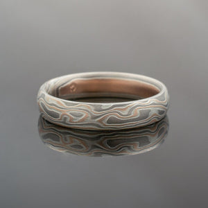 mokume gane wedding ring. best patterns, most unique patterns by Arn Krebs