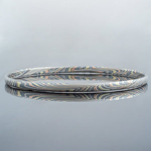Mokume Gane Bangle in Firestorm Metal Palette SHIPS TODAY
