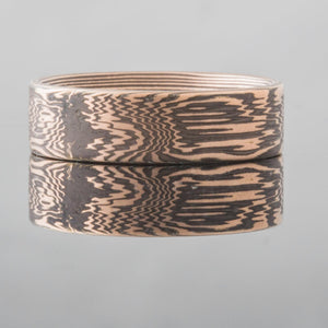 Mokume Gane Wedding Band or Ring in Ripples Pattern SHIPS TODAY
