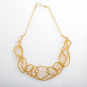 Spun Twisted Textured Wire Bib