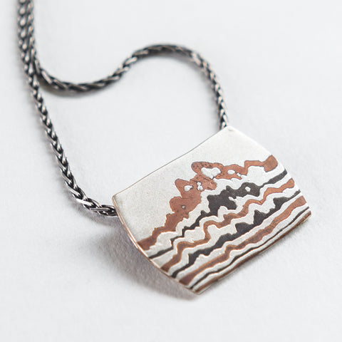 Mokume Cloud Pendant