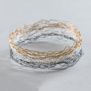 Thin Neapolitan Spun Bangle