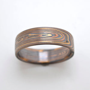 Mokume Vortex Band in Oxidized Flame