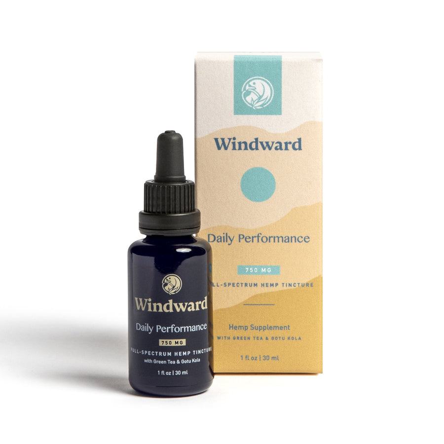 Windward Daily Performance Hemp CBD Tincture for Muscle Recovery, Joint Health, Energy & Stamina