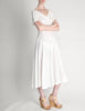 Vintage 1950s White Embroidered Eyelet Full Skirt Dress - Amarcord Vintage Fashion  - 2