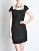 Vintage 1960s Crepe Little Black Dress - Amarcord Vintage Fashion  - 2