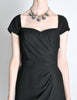 Vintage 1960s Crepe Little Black Dress - Amarcord Vintage Fashion  - 4