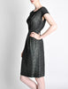 Vintage 1960s Woven Black and Grey Cocktail Dress - Amarcord Vintage Fashion  - 5
