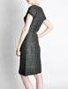 Vintage 1960s Woven Black and Grey Cocktail Dress - Amarcord Vintage Fashion  - 7