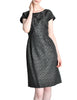 Vintage 1960s Woven Black and Grey Cocktail Dress - Amarcord Vintage Fashion  - 1