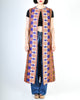 Vintage 1970s Embroidered Maxi Duster Vest - Amarcord Vintage Fashion  - 4
