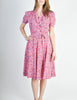 Vintage 1940s Pink Floral Dress - Amarcord Vintage Fashion  - 2