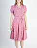 Vintage 1940s Pink Floral Dress - Amarcord Vintage Fashion  - 4